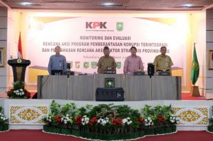 Pjs dan Sejumlah Pejabat di Pemkab Inhil  Ikuti Rakor Bersama KPK