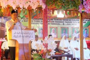 Wakil Bupati terpilih H Syamsuddin Uti Beri Arahan Jema,ah Calon Haji Desa Batang Tumu, Mandah
