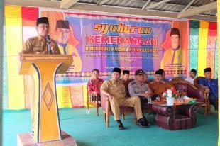 Bupati HM Wardan Silahturahmi Dengan Masyarakat Kecamatan Gaung
