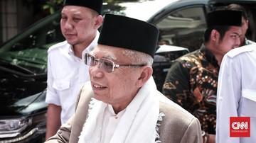 Cawapres No 01 KH Ma'ruf Amin Tuding Ada Dajal Pembohong Ciptakan 'Tsunami' Hoaks