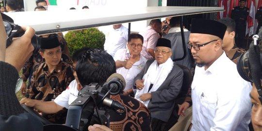 KH Ma'ruf Amin Tunggu Bocoran Pertanyaan Debat dari KPU