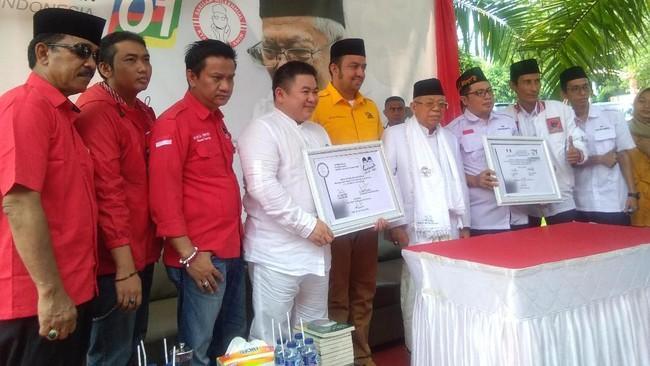KH Ma'ruf Amin Cawapres No 01: Yang Tidak Lihat Kerja Jokowi, Ente Tidur Ngorok