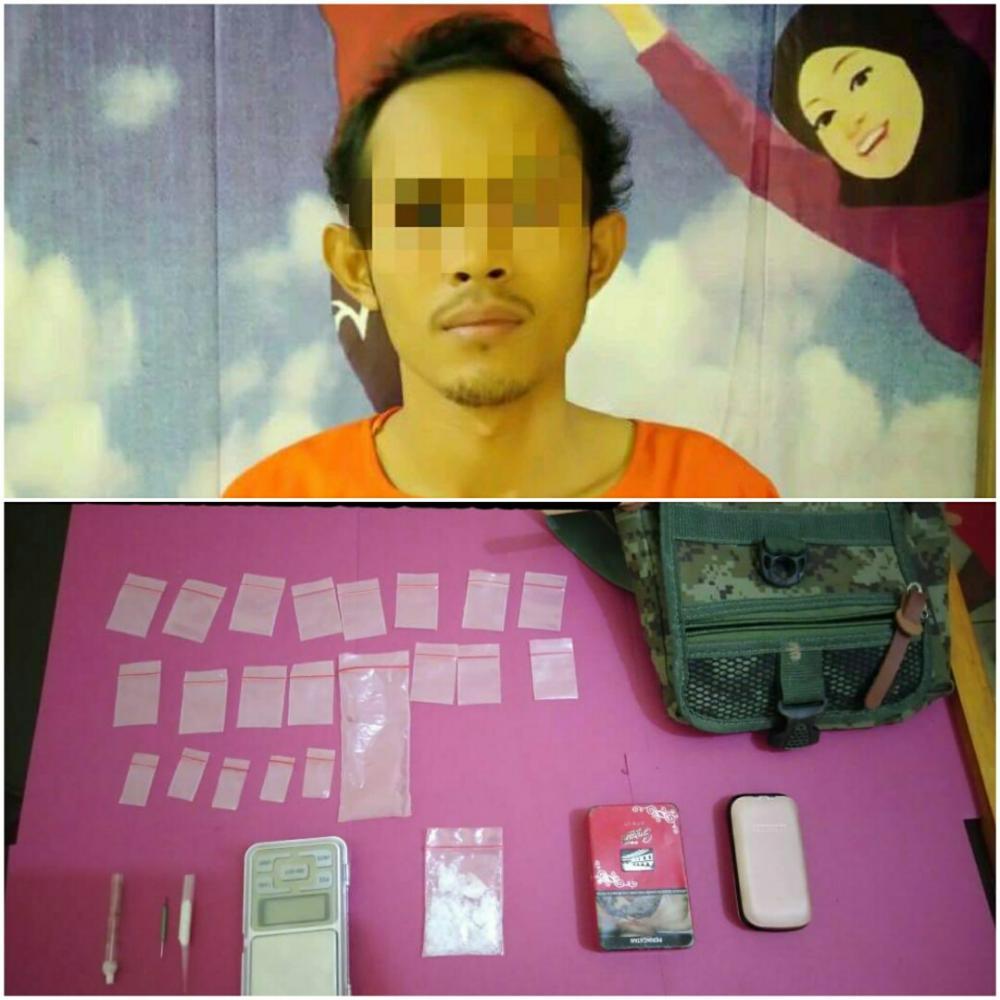 Sat Narkoba Polres Rohil Ciduk RP di Kepenghuluan Harapan Makmur, Sabu Berkisar 4,94 Gram Ikut Diamankan