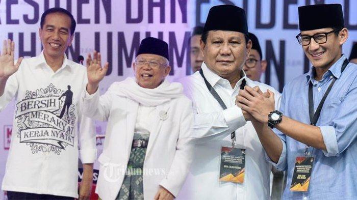 Bandingkan Senyum Jokowi-Maruf & Prabowo-Sandi di Surat Suara Pilpres 2019, Sama Peci Beda Kostum