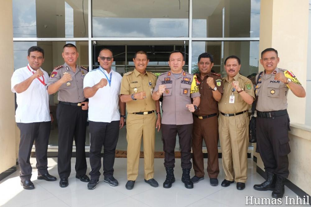 Wakil Bupati Inhil H Syamsudin Uti Menyambut Kedatangan Polda Riau Di Bumi Hamparan Kelapa Dunia