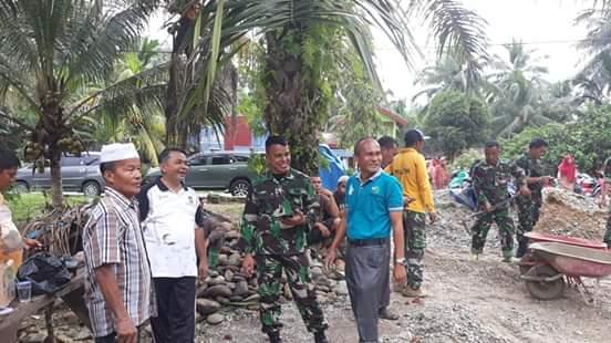 Dandim 0313 KPR puji semangat gotong royong masyarakat Pulau Gadang