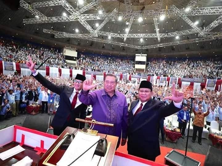 Prabowo-Sandi Di Temani SBY, Bangkitkan Optimisme Baru 'Indonesia Menang'