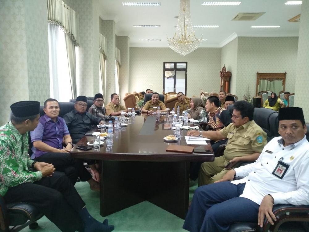Masjid Agung Islamic Centre Rohul  jadi bahan studi banding kabupaten Anambas Kepri.