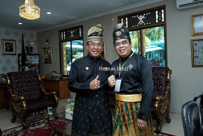 Bupati Inhil HM Wardan Hadiri Tepung Tawar Komjen. Pol. Dr. Gatot Eddy Pramono, M.Si