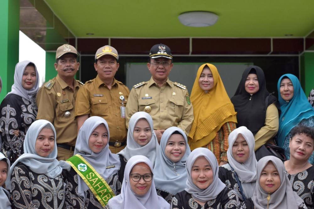 Bupati Inhil HM Wardan Resmikan Puskesmas Lebih Mega Dari Kantor Kecamatan