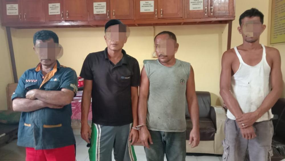 Sedang Asik Main Judi Ludo di Teras Bengkel, 4 Pelaku Diamankan Polsek Tapung Hulu Kampar