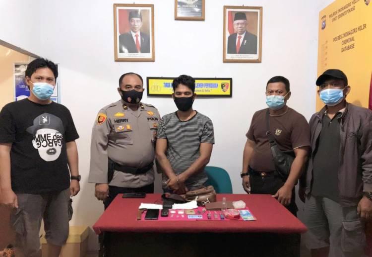 Polres Inhil Ciduk Pelaku Tindak Pidana Narkotika di Gaung