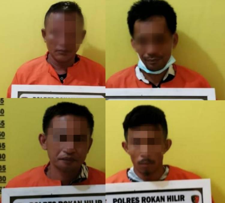 Polisi Bekuk 4 Kawanan Pengedar Sabu di Rokan Hilir - Riau