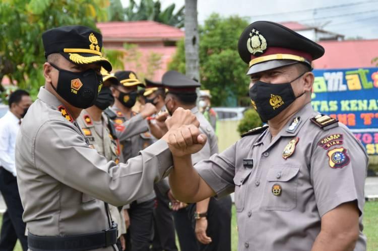 Kapolres Kampar Pimpin Upacara Kenaikan Pangkat Personel Periode 1 Januari 2021