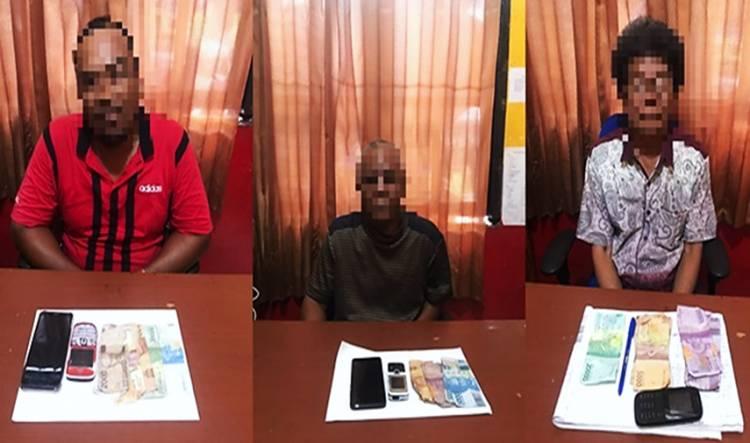 Tiga Terduga Pelaku Tindak Pidana Perjudian Berhasil Diamankan Polsek Kateman Inhil