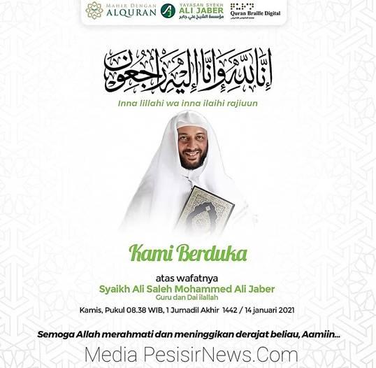 BREAKING NEWS: Innalillahi Wa Innailahi Rajiuun, Ulama Kharismatik Syekh Ali Jaber Meninggal Dunia
