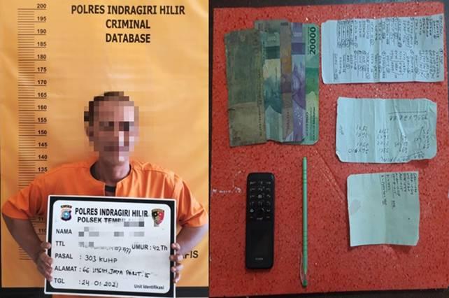 Seorang Honorer Diamankan Polsek Tembilahan, Kedapatan Jual Togel