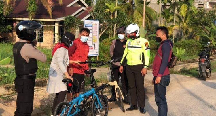 Para Pesepeda Rasakan Manfaat Kehadiran Satgas Anti Begal Polres Inhil
