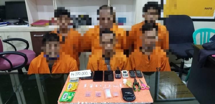 Sekali Ciduk, 6 Warga Inhil Berhasil Diamankan Sat Narkoba Polres Inhil, Satu Diantaranya Oknum PNS