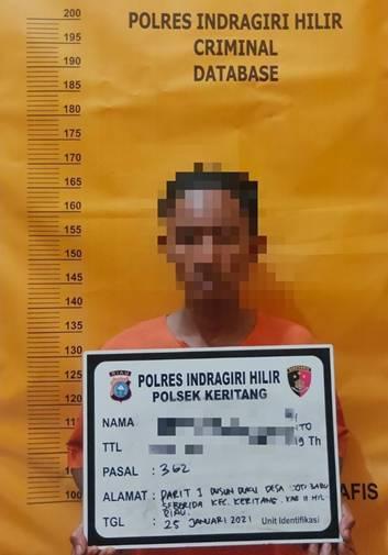 Residivis Muda ini Kembali Berulah, Dia Mencuri Dirumah Tersangka TP Narkotika