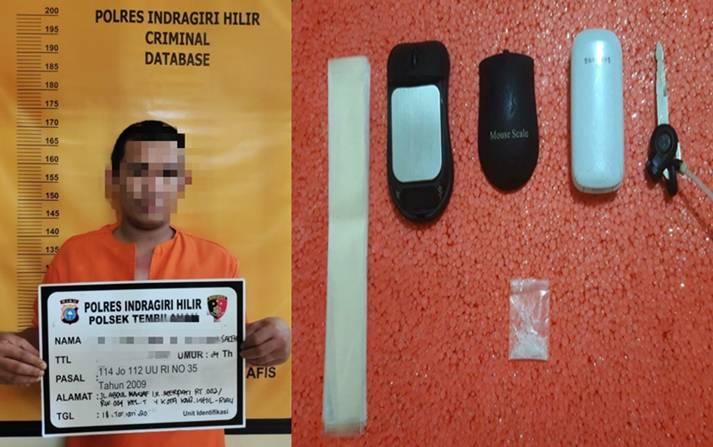 Lagi, Seorang Terduga Pelaku Tindak Pidana Narkotika Berhasil Dibekuk Aparat Polres Inhil