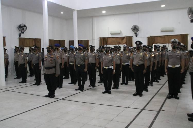 Sebanyak 78 Personel Polres Inhil Naik Pangkat