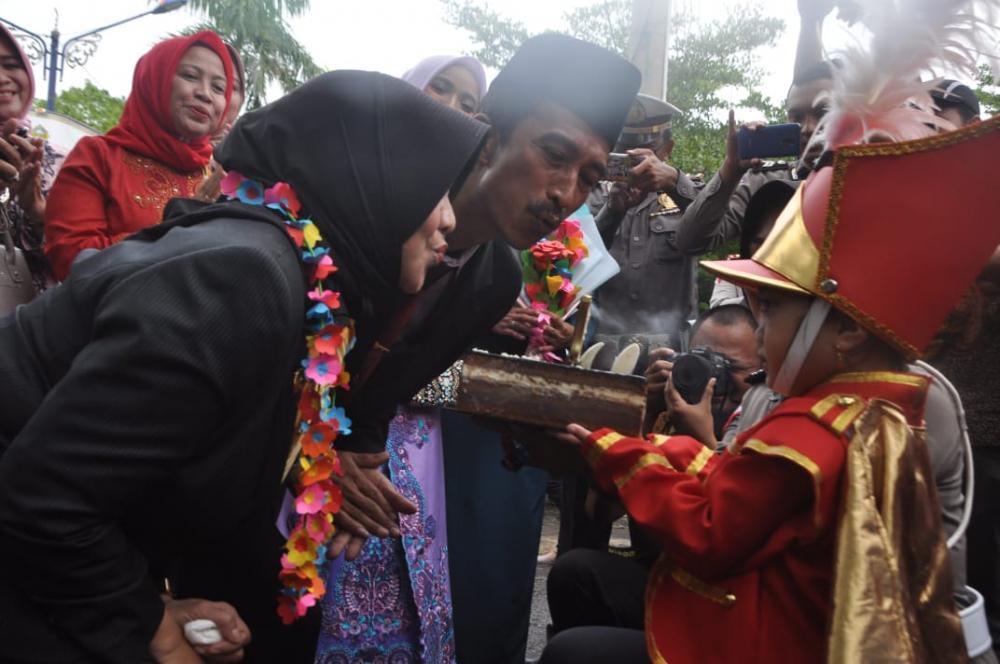 Tim Drumband Ksatria Citanduy TK Kemala Bhayangkari Banjar Turut Meriahkan Hari Jadi Kota Banjar Ke 17