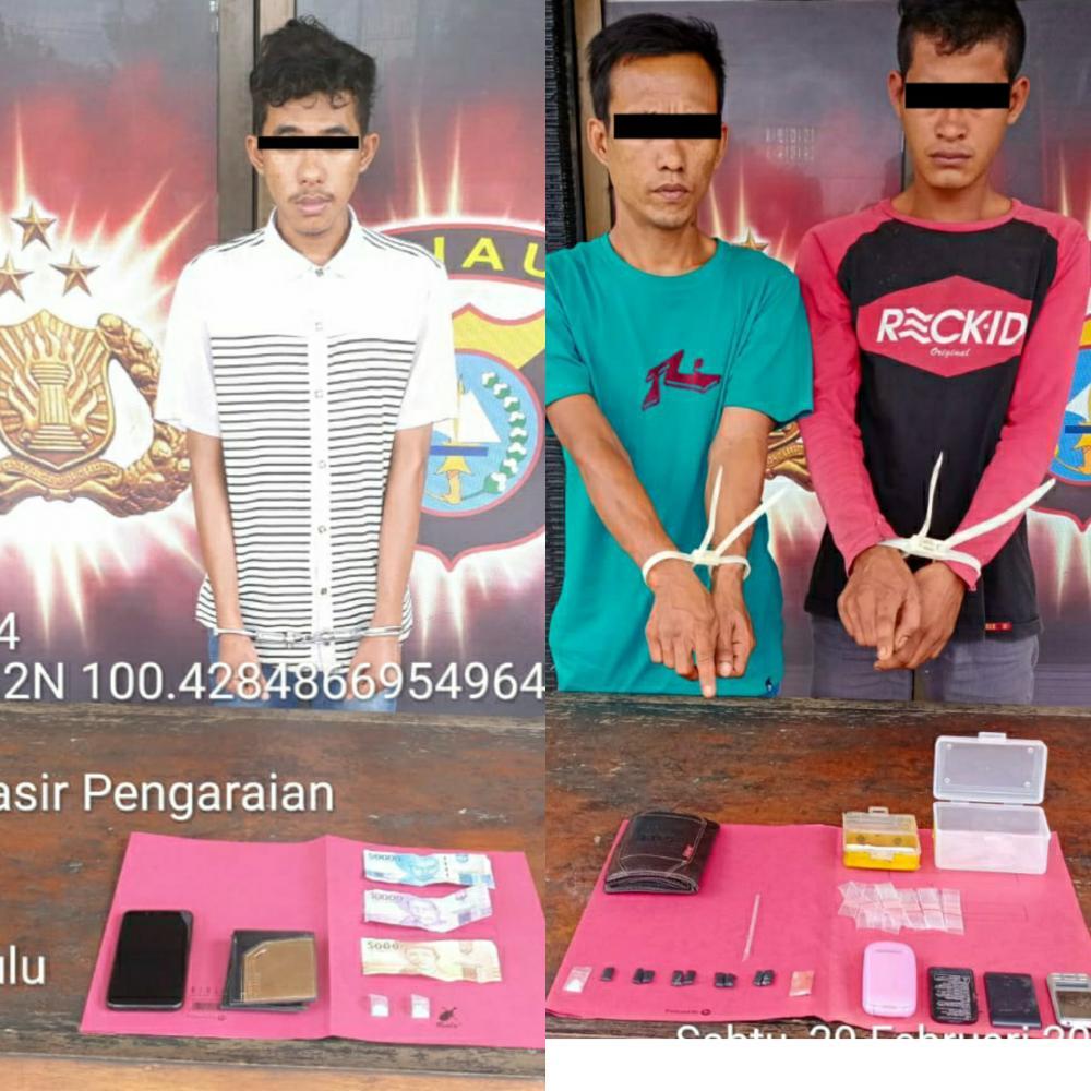 Wah ,Polsek Rambah Samo Sikat 3 orang Pelaku Penyalahgunaan Narkotika