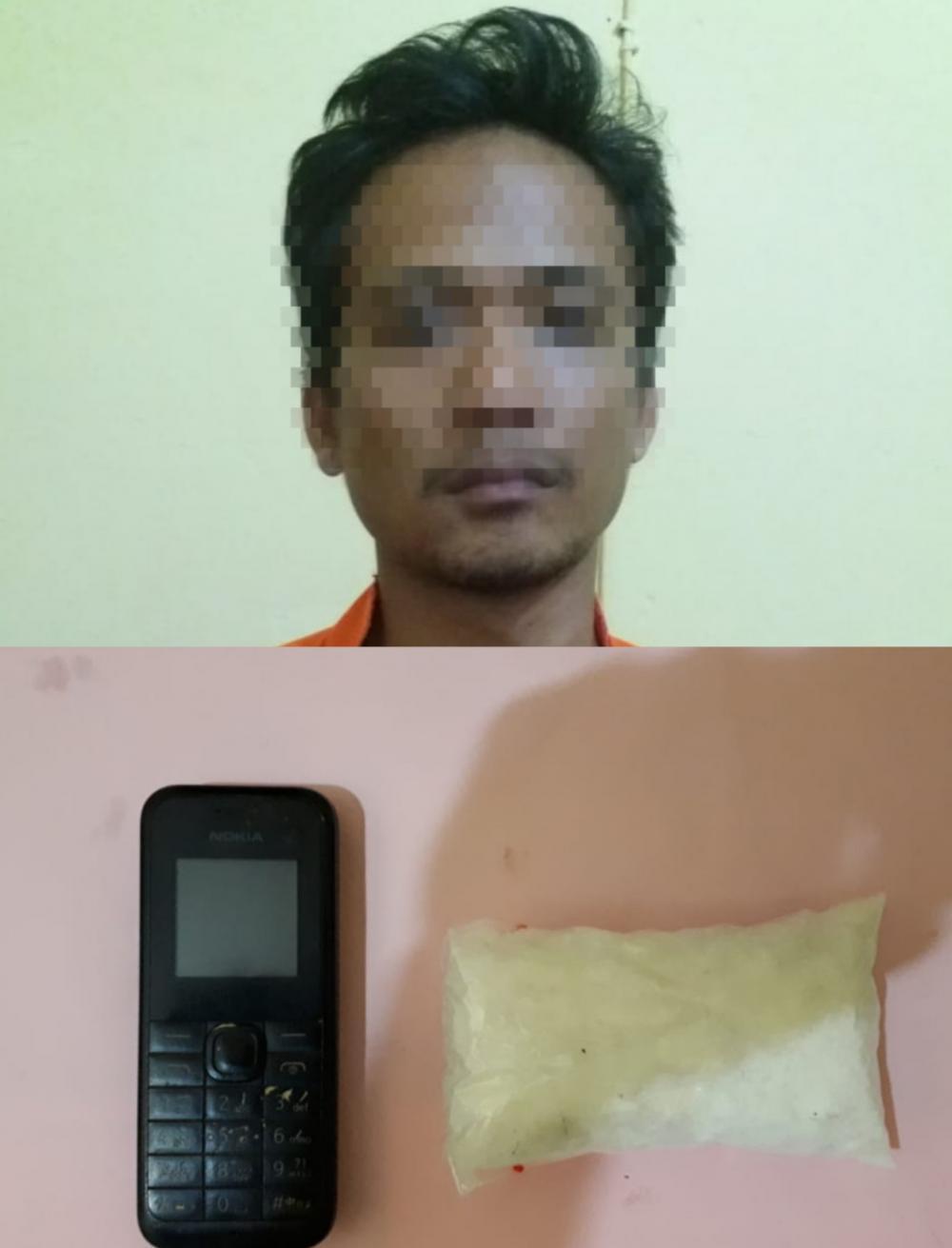 Seorang Kurir Sabu di Bagan Batu Diciduk Sat Res Narkoba Polres Rohil, Segini BB-nya..