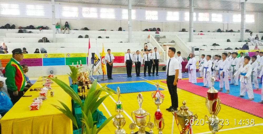 160 Atlit Dojo Lemkari Ikut Kejuaraan Festival Karate se Kabupaten Inhil