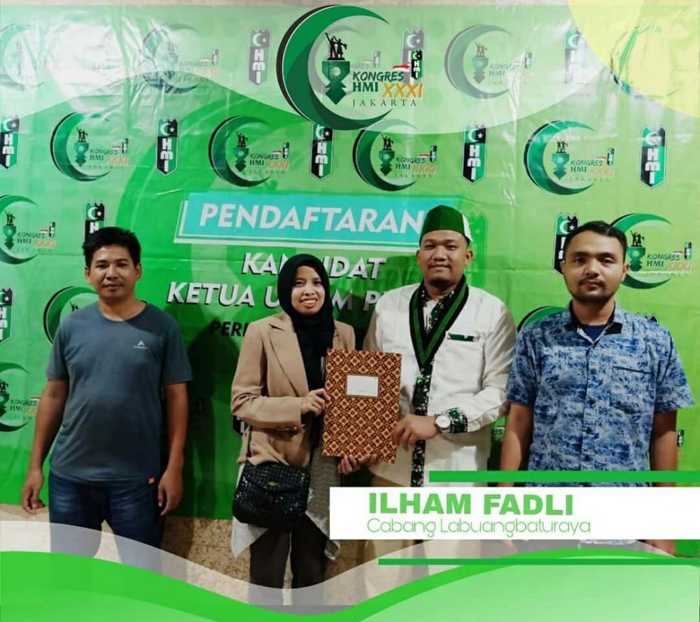 Ilham Fadli Kader Labuhan Batu Maju Sebagai Kandidat Ketua Umum PB HMI Periode 2020-2022