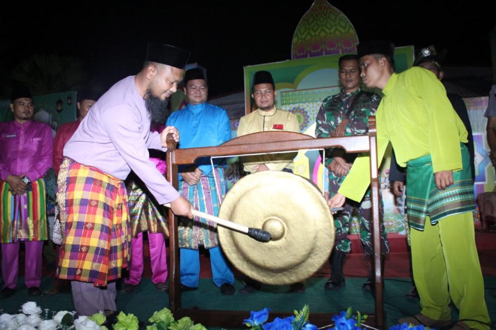 Camat Rupat Buka Resmi MTQ ke-X Desa Sungai Cingam Tahun 2020 Dengan Meriah dan megah