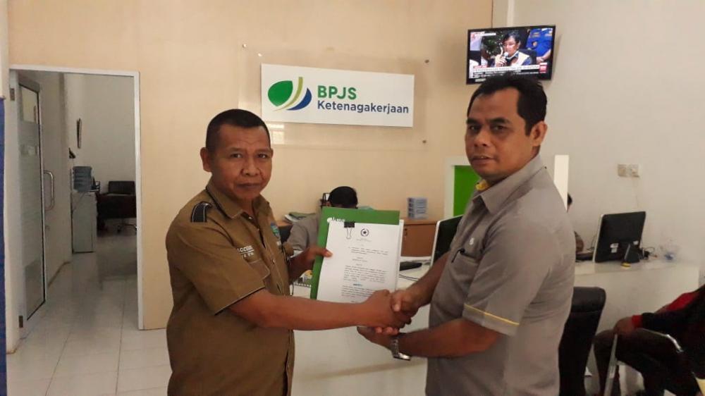 PD IWO Rohul Jalin Sinergi dengan BPJS Ketenagakerjaan Rokan Hulu.