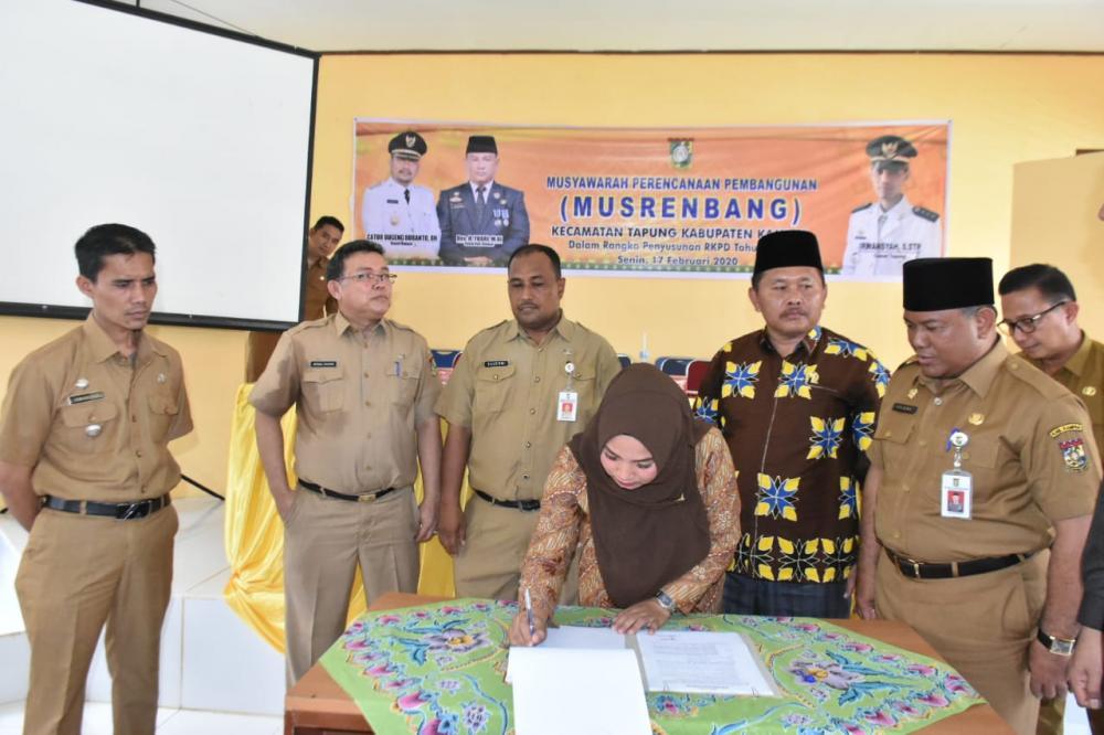 Buka Musrenbang Perdana, Bupati Kampar : Program Prioritas dan Jangan ada Kegiatan Masuk di Tengah Jalan