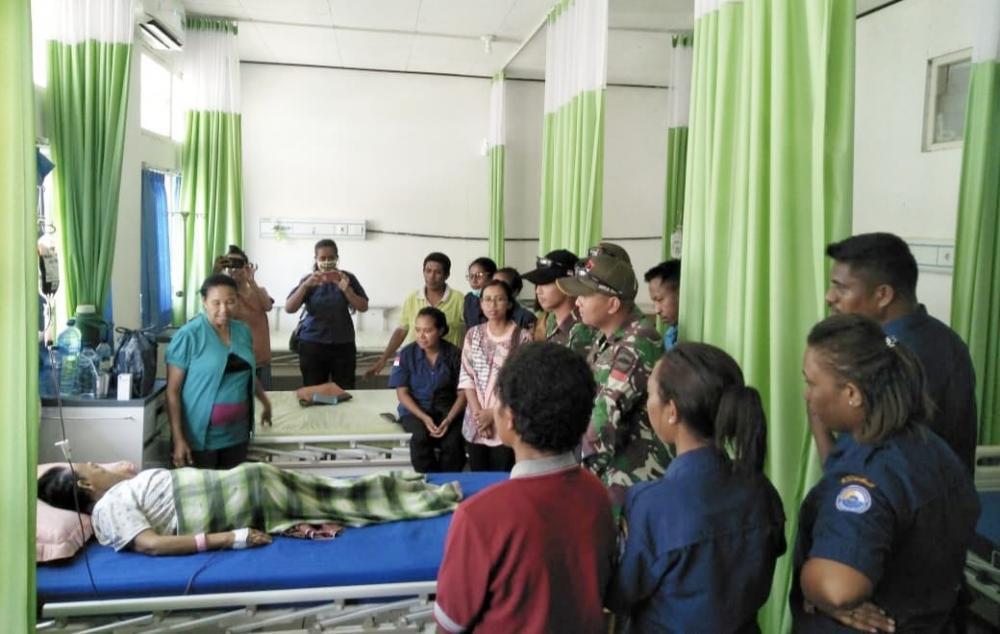 Satgas Yonif 132/BS,Tulus dan Ikhlas Donorkan Darah Untuk Masyarakat Perbatasan