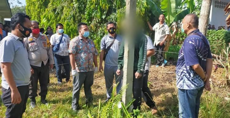Seorang Guru di Rohil Ditemukan Tewas Tergantung di Tiang