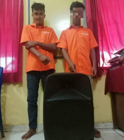 Polsek Tapung Hulu Tangkap 2 Pelaku Pencurian Rumah Warga di Desa Senama Nenek