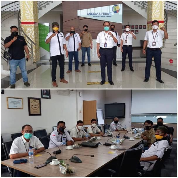 PW IWO Riau Bincang Santai dengan PT Angkasa Pura II Pekanbaru