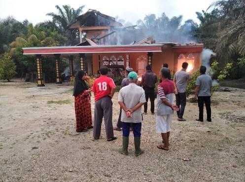 1 Unit Rumah di Desa Sei Pagar Dilalap si Jago Merah, Kerugian Ditaksir Rp 300 Juta