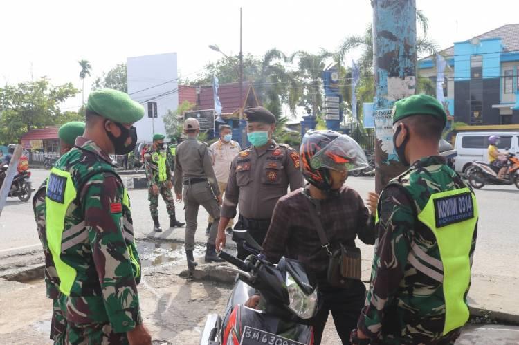 Operasi Penegakan Disiplin Prokes Covid-19 Dilakukan Secara Besar-besaran di Tembilahan