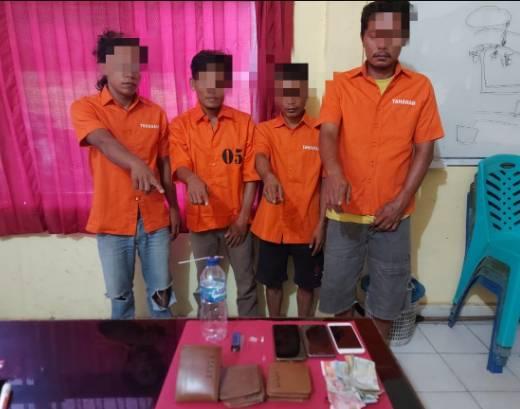 Polsek Tapung Hulu Tangkap 4 Pelaku Narkoba, 2 Diantaranya Juga Pelaku Curanmor