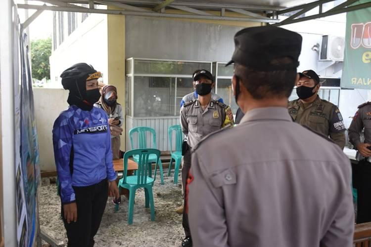 Kapolres Banjar Cek Penerapan PPKM Skala Mikro di Wilayah Patruman dan Langensari