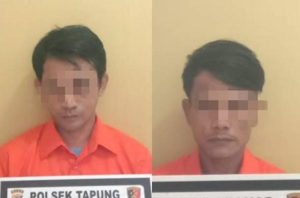 Polsek Tapung Tangkap 2 Pelaku Narkoba dengan BB 16 Paket Sabu Siap Edar