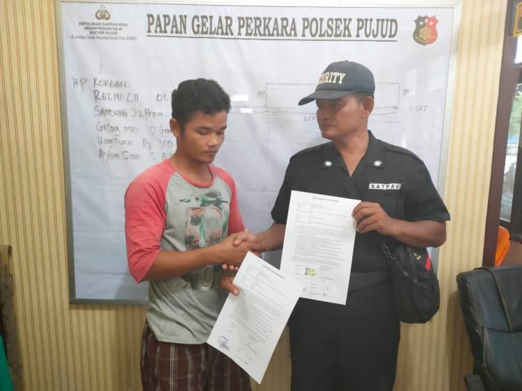 PT KASS Berdamai dengan Pelaku Ninja Sawit, Kapolsek Pujud Dukung Program Kapolri