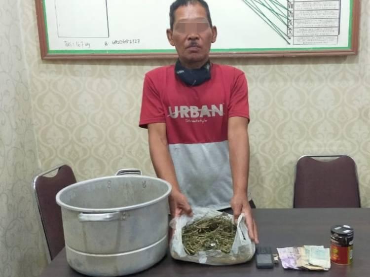 Miliki Ganja 450 Gram, Opung Diciduk Polisi