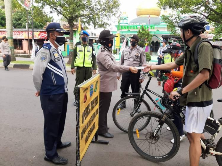 Satgas Penanganan Covid-19 Kota Banjar Gelar Operasi Yustisi Penegakan Disiplin Prokes Covid-19