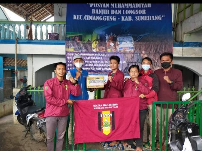 IMM Kota Banjar Salurkan Bantuan Kepada Korban Bencana Alam di Sumedang