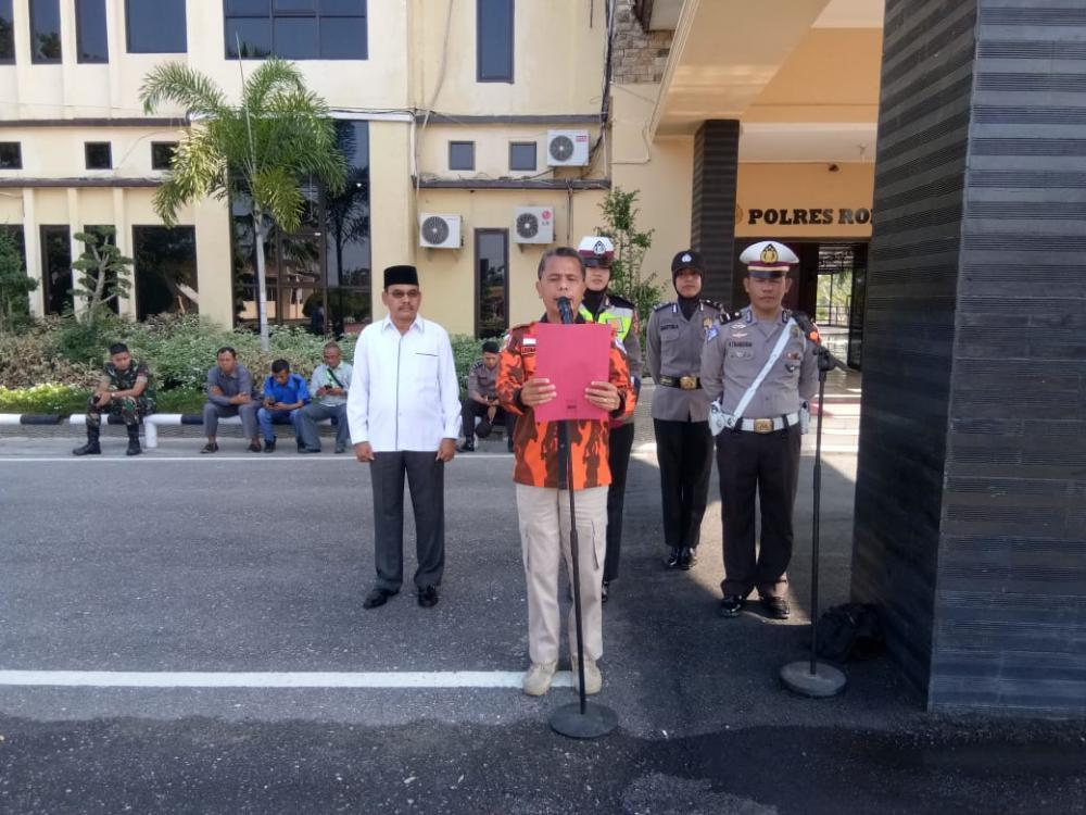 Apel Gelar Pasukan Operasi Brata Muara Takus di Rohil, Ormas PP Bacakan Deklarasi Pemilu Damai