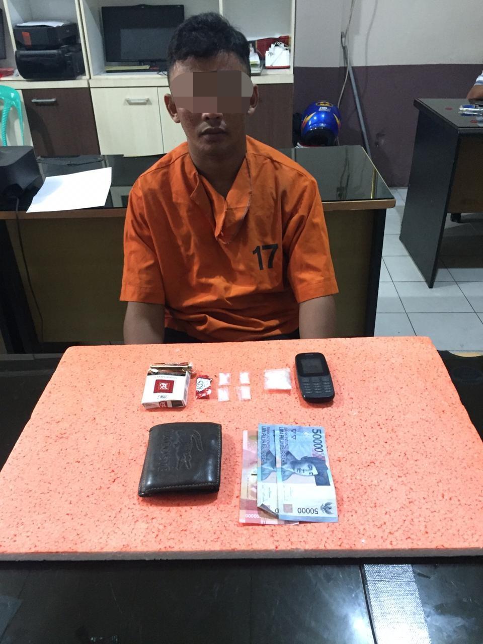 Tangkap Pemuda Warga Tempuling, Polisi Temukan Paket Sabu Siap Edar