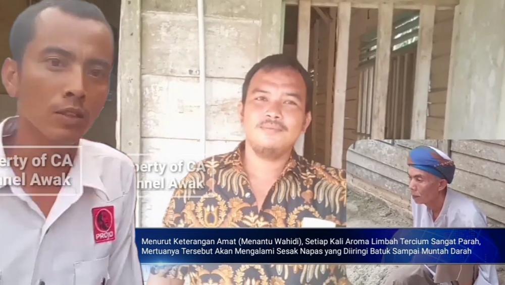 Video : Pernyataan Projo Balai Jaya, Kabupaten Rokan Hilir Terkait Warga yang Muntah Darah Usai Mencium Aroma Limbah Pabrik
